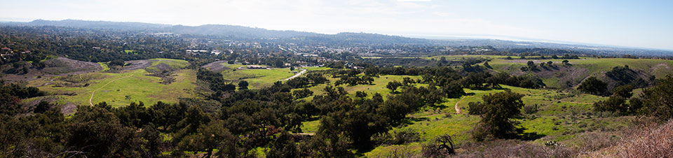 Panorama of the San Marcos Foothills Preserve